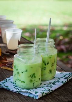 Tropical fruits and grass jelly in coconut milk | Rice kitchen