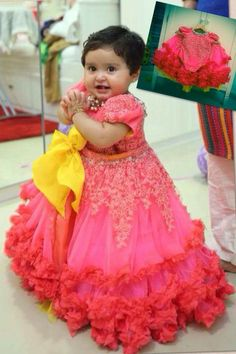Trendy Baby Things To Buy Sweets Ideas Baby Girl Dress Patterns, Baby Dress Design, Little Girl Dresses, Girls Dresses, Baby Dresses, Kids Indian Wear, Kids Lehenga, Baby Lehenga, Kids Party Wear
