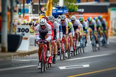 2015 Tour D'alberta Peloton - The peloton rounds the rounds the corner on one of the final laps at the 2015 Tour dAlberta.   .  http://wp.me/p1kNUw-2Fv