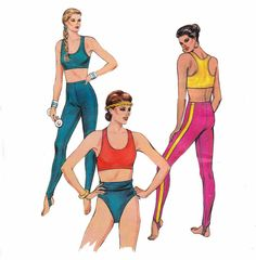 80s Sports Bra Stirrup Pants and Trunks by allthepreciousthings, $16.00