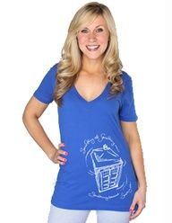 Cute!   Doctor Who Something Blue V-neck totally want this for when I get married the day off! ;) lol long way away but it's a cute idea!!