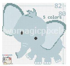 (4) Name: 'Crocheting : Elephant C2C Graph