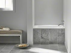 """Kohler Greek® 48"""" x 32"""" drop-in bath with Respose™ vinyl bath pillow. With a footprint of just 4 feet and a deep basin for fully covered soaking, this Japanese-style soaker bath is ideal for smaller bathrooms. K-1490-X-0 *Price? Yikes.*"""