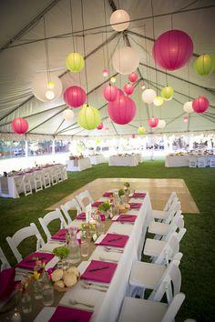 Pink and Green Oregon Wedding: Coordination: Taylor'd Events Group; Venue: Camp Sherman; Photos: Stotts Shots Photography #destinationweddingplanner #pinkwedding #greenwedding