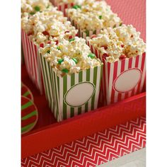 Inspired by popcorn bags from the movies, our Popcorn Boxes are sure to get rave reviews! | $6.99