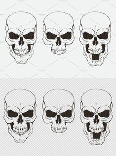 Monster Design, Skull, Impressionism, Skulls, Sugar Skull