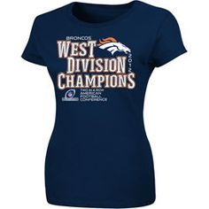 Denver Broncos Women's 2012 AFC West Division Champions T-Shirt  http://www.fansedge.com/Denver-Broncos-Womens-Orange-2012-AFC-West-Division-Champions-T-Shirt-_1370433022_PD.html?social=pinterest_pfid28-55337
