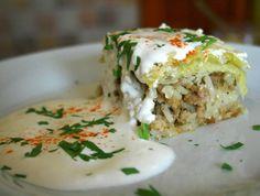 Cabbage Casserole, Vegetable Casserole, Croatian Recipes, Hungarian Recipes, Casserole Recipes, Meat Recipes, Cooking Recipes, Hungarian Cuisine, Hungarian Food