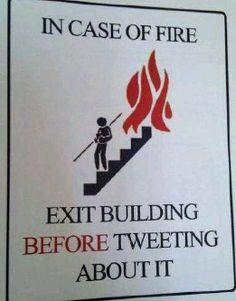 Tweet first.
