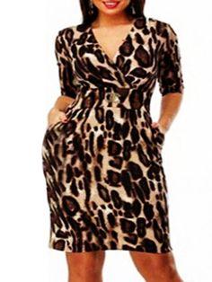 Printed Attractive V Neck Plus Size Bodycon Dress Plus Size Bodycon Dresses 285b2544de22