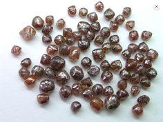 Uncut Unpolished Rough Reddish-Brown Diamonds Brown Diamonds, Colored Diamonds, Red Opal, Reddish Brown, Rocks, Stones, Fancy, Gold, Stone