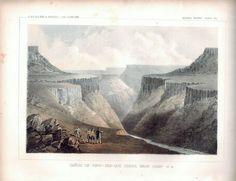 Canon of PSUC See Que Creek Near Camp 41A Plate VIII USPRR 1857 Print