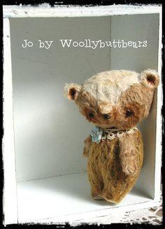 Jo by Woollybuttbears 3.5 inches by Woollybuttbears on Etsy