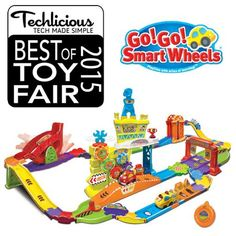 """Go! Go! Smart Wheels Ultimate RC Speedway received a """"Best of Toy Fair 2015"""" Award from Techlicious!"""