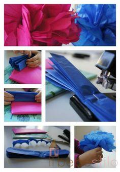 How to: DIY tissue pompom (cómo hacer un pompom seda)