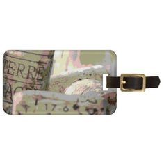 Green and Red Toned Wine Corks Custom Luggage Tag