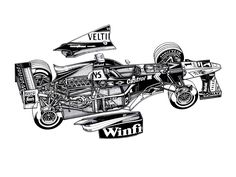 1998 Williams FW20 - Illustrator unknown