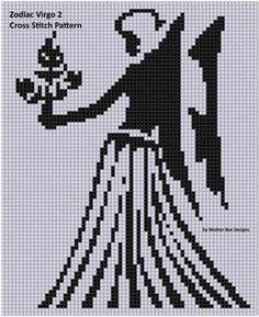 Name: 'Embroidery : Zodiac Virgo 2 Cross Stitch Pattern Siz Zodiac Symbols, Virgo Zodiac, Zodiac Signs, Cross Stitch Heart, Diy Home Crafts, Cherub, Pixel Art, Hand Embroidery, Cross Stitch Patterns