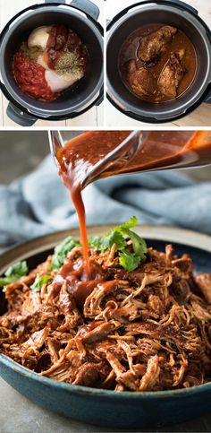 Mexican Shredded Chicken - The smokey, rich, mildly spicy sauce is incredible! Super easy, fast to prepare, for the slow cooker, pressure cooker or stovetop!