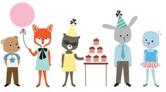 free woodland friends party invite
