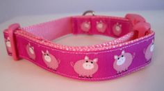 Pigs  Dog Collar by caninedesign on Etsy, $8.00
