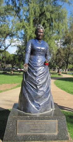 King and Queen of Hawaii | Statue of Queen Kapiolani at Kapiolani Park
