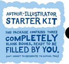 Author illustrator starter kit. Blank books to be filled with drawings etc. #kids #crafts #DIY