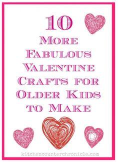 Valentine crafts for older kids to make - fun and creative ways for older kids to get crafty for Valentine's Day.