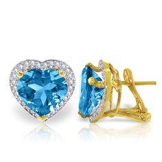 QP Jewellers Green Amethyst French Clip Earrings ctw in White Gold Blue Topaz Diamond, Diamond Heart, Or Rose, Rose Gold, Solid Gold, White Gold, French Clip, Carat Gold, Clip On Earrings
