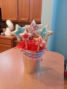 Fourth of July Cookie Pops