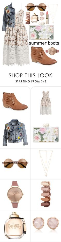 """Summer essentials"" by asnaate ❤ liked on Polyvore featuring Seychelles, self-portrait, Alice + Olivia, Ashlyn'd, Natalie B, Olivia Burton, Monica Vinader and summerboots"