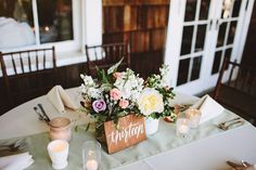 wooden table numbers--simple but pretty