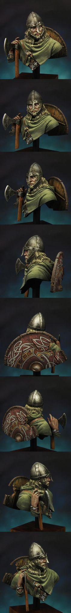 Viking válečník C.950 1 \ 10 měřítko poprsí boxart pro mladé miniatury