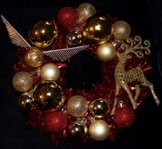 harry potter christmas wreath by smithstudiocreations on etsy - Happy Christmas Harry