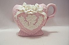 Pink China Cameo Toothpick Holder