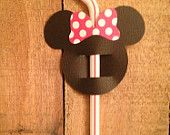 Mickey Minnie Mouse Straw Flags - i can make these easy :)