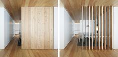 Turn One Room into Two with 35 Amazing Room Dividers - Ritely Wood Room Divider, Room Dividers, Fake Walls, Simple Living Room Decor, Sliding Wall, Interior Minimalista, Office Interiors, Small Apartments, Living Room Interior