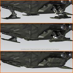 3D SF Heavy Military Dropship | CGTrader