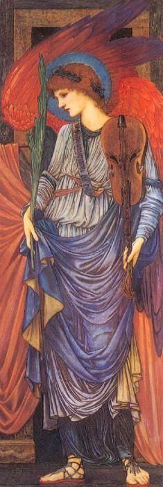 A Musical Angel by Sir Edward Burne-Jones :: artmagick.com