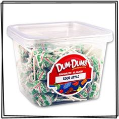 Sour Apple Dum Dum Pops Tub