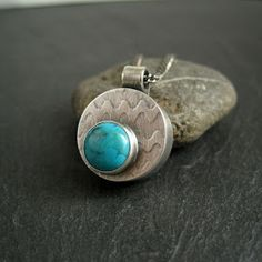 Cinnamon Jewellery: Making A Hollow Form Pendant With Turquoise Cabochon tutorial