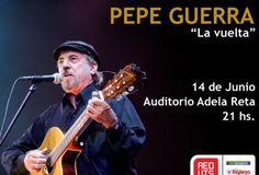 Pepe Guerra regresa a escena en el Auditorio Nacional del Sodre.  Un esperado regreso se dará el próximo viernes 14 de junio, a las 21 horas.