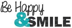 Be happy & Smile Quote de NatGrafDesigns en Etsy