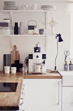 white, wood kitchen