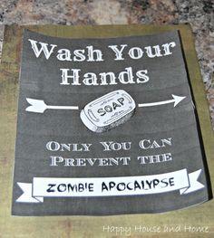 FUN Bathroom Sign (Wash Your Hands)