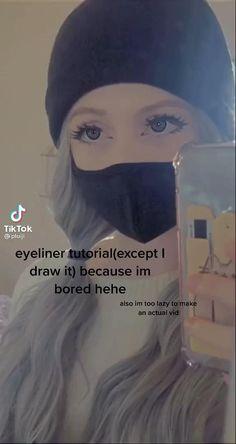 Makeup Eye Looks, Eye Makeup Art, Pretty Makeup, Skin Makeup, Punk Makeup, Indie Makeup, Grunge Makeup, Maquillage On Fleek, Makeup Tutorial Eyeliner