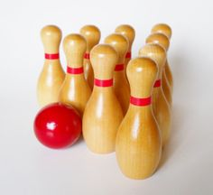 Lots of Unique Items  Our Best SellerSTRIKE!!!  Now you can bowl just about anywhere with our miniature ten pin bowling set, complete with bowling ball. Set the pins, and take turns