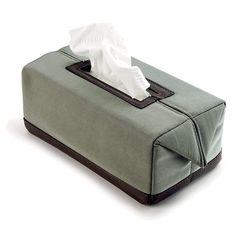Reed grey tissue box