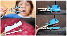 Predadores-de-Pregadores brinquedo reciclado