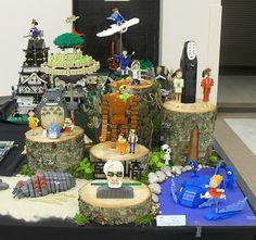 Miyazakitopia () at BrickCon 2010 (Ochre Jelly) Tags: anime japan lego totoro miyazaki ghibli nausicaa ohm mononoke moc afol miniland ponyo brickcon miyazakitopia Totoro, Hayao Miyazaki, Lego City, Personajes Studio Ghibli, Studio Ghibli Characters, Lego Sculptures, Lego Man, Girls Anime, Ghibli Movies